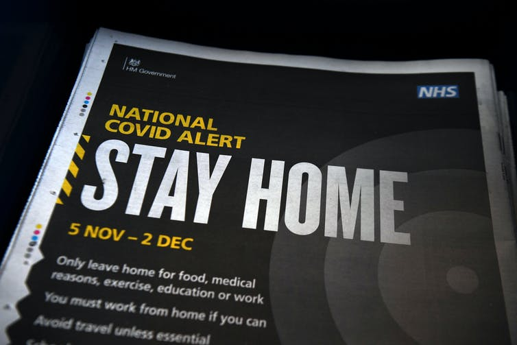 A full-page newspaper ad from the UK government saying